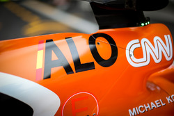 The bodywork detail of Fernando Alonso, McLaren MCL32