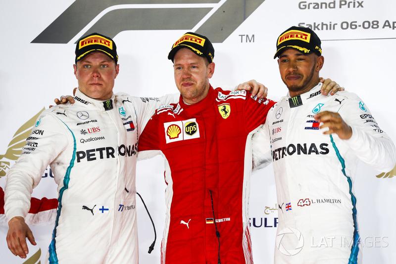 GP de Bahrein: 1º Vettel, 2º Bottas, 3º Hamilton