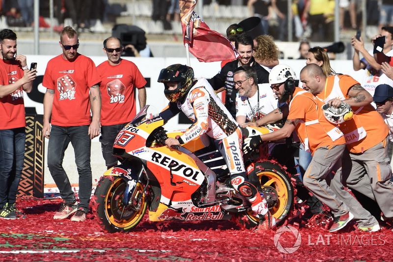 Worldchampion Marc Marquez, Repsol Honda Team celebrate