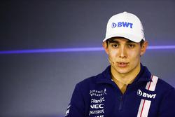 Esteban Ocon, Force India en la conferencia de prensa