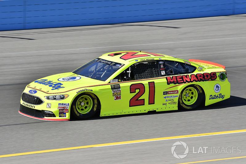14. Paul Menard, No. 21 Wood Brothers Racing Ford Fusion