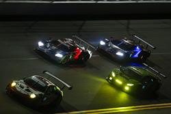 #58 Wright Motorsports Porsche 911 GT3 R, GTD: Patrick Long, Christina Nielsen, Robert Renauer, Mathieu Jaminet #66 Chip Ganassi Racing Ford GT, GTLM: Dirk Müller, Joey Hand, Sébastien Bourdais #67 Chip Ganassi Racing Ford GT, GTLM: Ryan Briscoe, Richard Westbrook, Scott Dixon