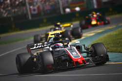 Romain Grosjean, Haas F1 Team VF-18 Ferrari, Nico Hulkenberg, Renault Sport F1 Team R.S. 18, and Daniel Ricciardo, Red Bull Racing RB14 Tag Heuer