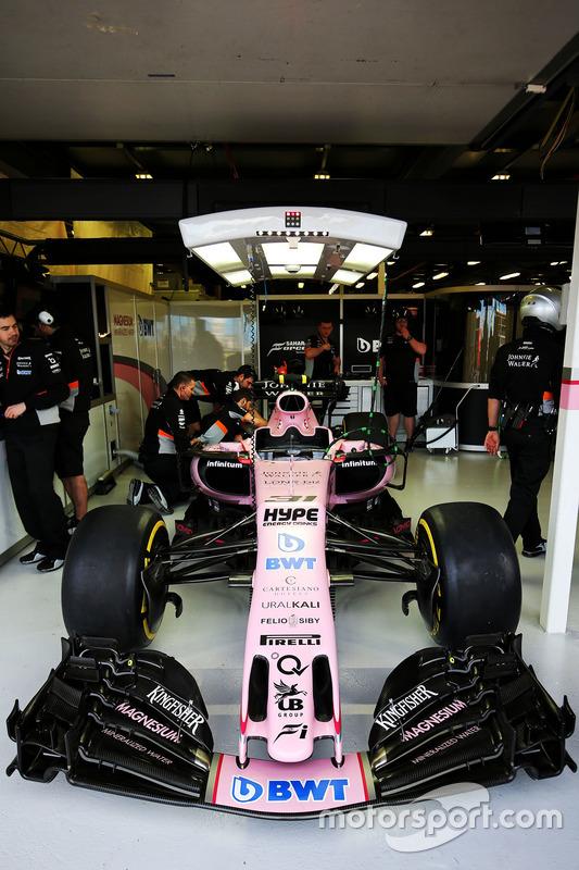Force India F1 VJM10 von Esteban Ocon
