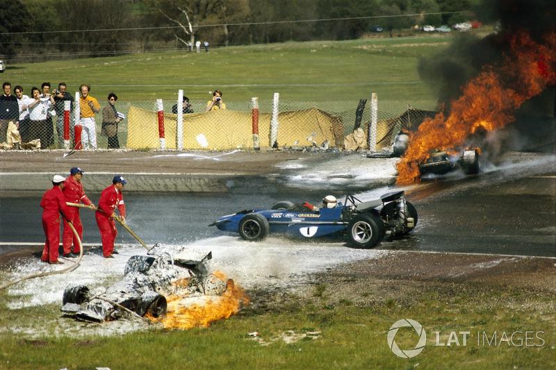 Jackie Oliver, BRM ve Jacky Ickx, Ferrari kaza, Jackie Stewart