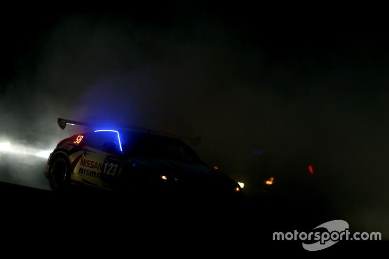 Crash #123 Nissan GT Academy Team RJN Nissan 370Z GT4: Jann Mardenborough, Ricardo Sanchez, Romain Sarazin, Johnny Guindi