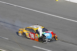 Kyle Busch, Joe Gibbs Racing Toyota after the crash