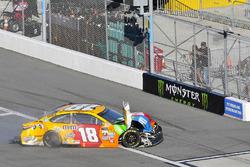 Kyle Busch, Joe Gibbs Racing Toyota wrecked car