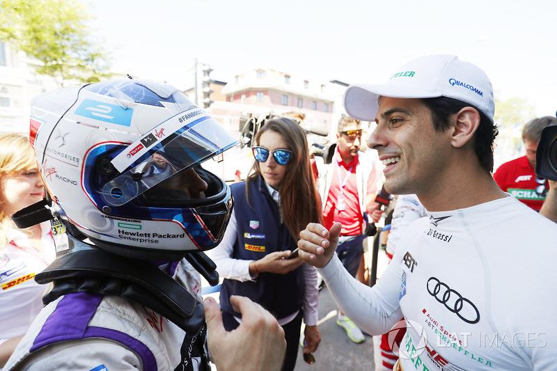 Sam Bird, DS Virgin Racing, y Lucas di Grassi, ABT Schaeffler Audi Sport