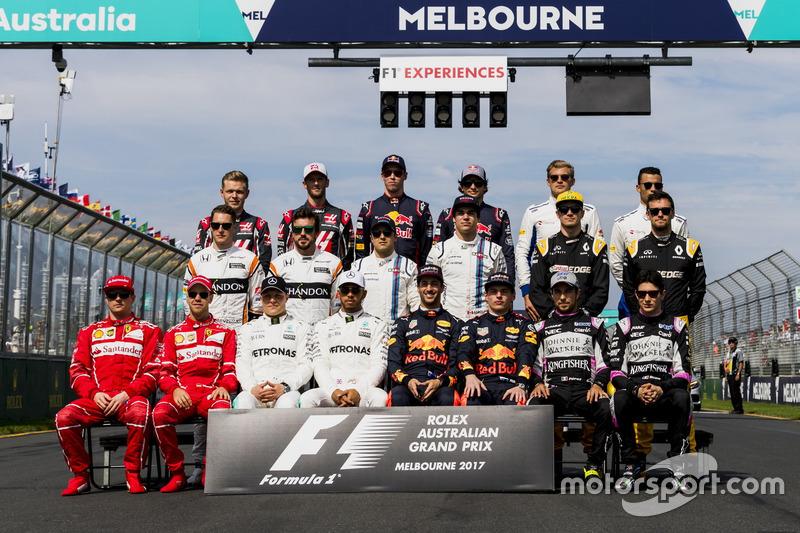 Los pilotos 2017 de F1