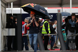 Max Verstappen, Red Bull Racing arrives in the Paddock