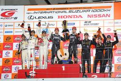 Podium GT300: #65 K2 R&D Leon Racing Mercedes SLS AMG GT3: Haruki Kurosawa, Naoya Gamou, #88 JLOC Lamborghini GT3: Manabu Orido, Kazuki Hiramine, #87 JLOC Lamborghini GT3: Shinya Hosokawa, Kimiya Sato