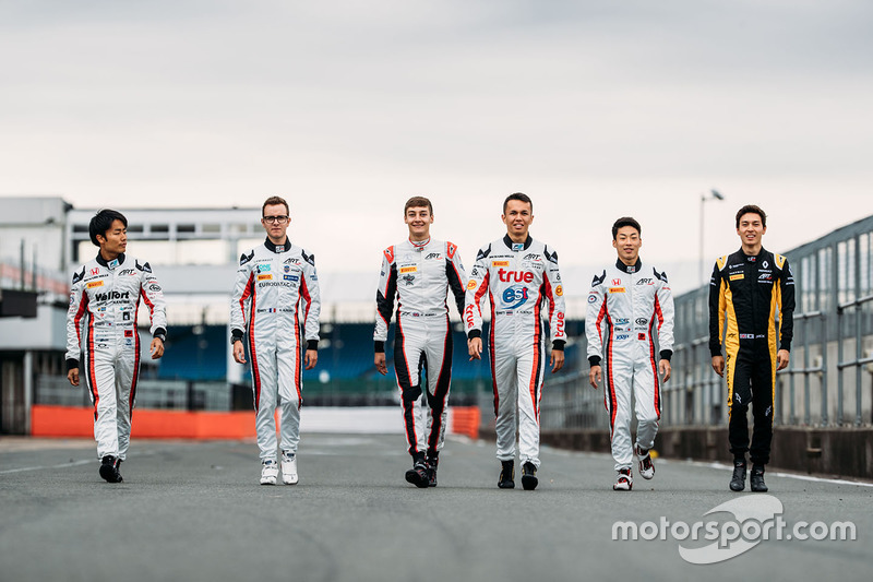 Nobuharu Matsushita, ART Grand Prix, Alexander Albon, ART Grand Prix,  Jack Aitken ART Grand Prix,  Nirei Fukuzumi, ART Grand Prix,  George Russell, ART Grand Prix,  Anthoine Hubert, ART Grand Prix