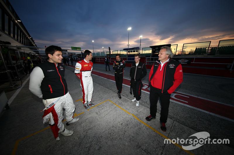 Filip Salaquarda, Clemens Schmidt, ISR; Markus Winkelhock, Dries Vanthoor, Belgian Audi Club Team WRT