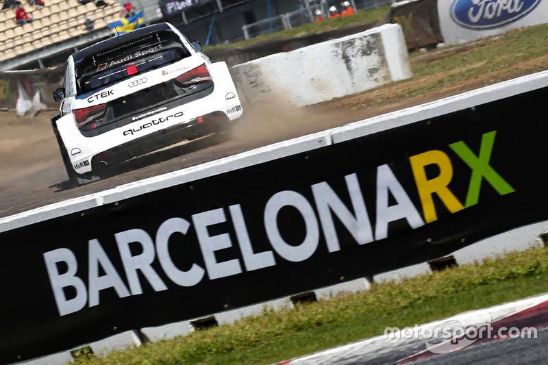 Rallycrosss-Action in Barcelona
