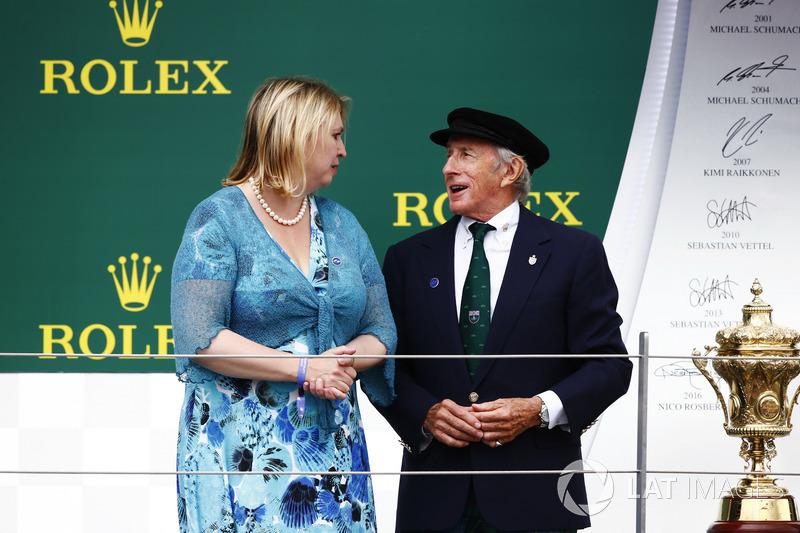 Sir Jackie Stewart en el podio