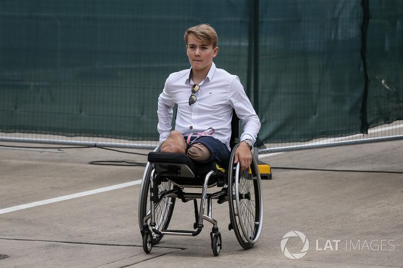 Billy Monger também esteve em Silverstone neste domingo.
