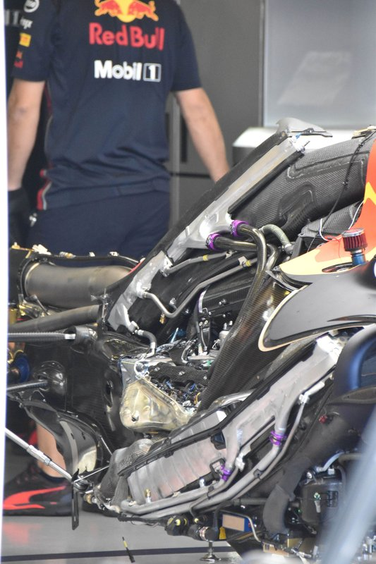 Red Bull Racing RB15 engine detail