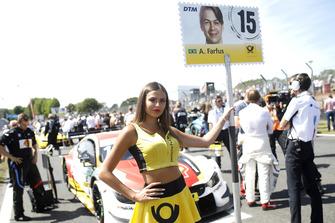 Grid girl of Augusto Farfus, BMW Team RMG
