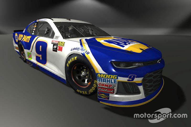 Chase Elliott, Hendrick Motorsports, Chevrolet Camaro - NASCAR Heat 3 skin