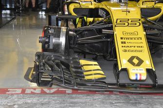 Vue détaillée de l'avant de la Renault Sport F1 Team R.S. 18