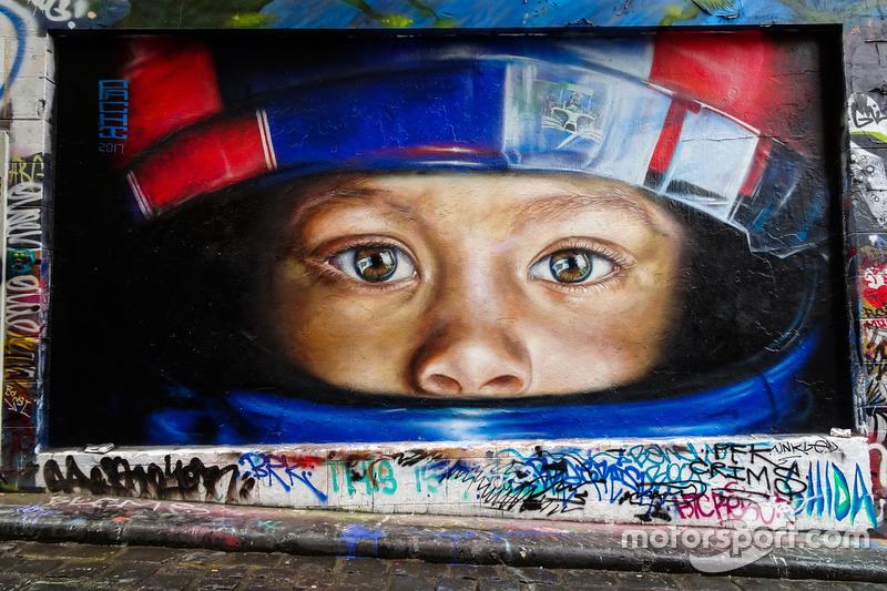 Arte callejero en Melbourne.