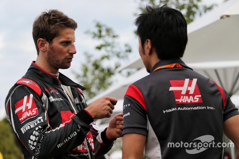Ромен Грожан, Haas F1 Team, гоночний інженер Haas F1 Team Аяо Коматсу
