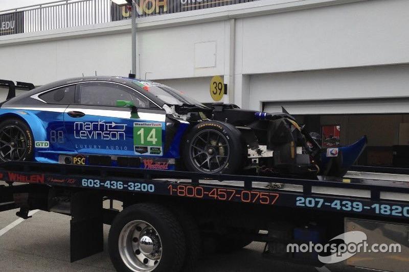 #14 3GT Racing Lexus RCF GT3 crash damage: Scott Pruett, Ian James, Gustavo Menezes, Sage Karam