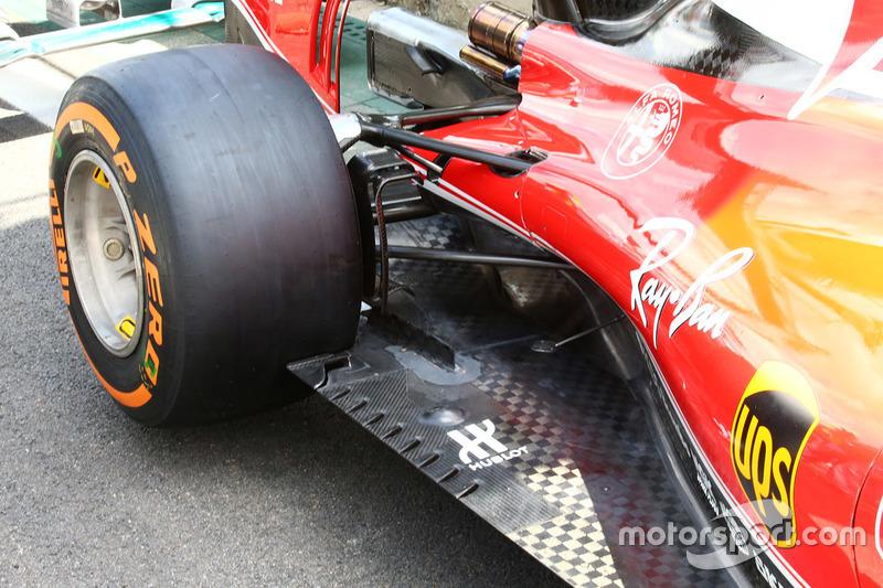 Ferrari SF16-H floor detail