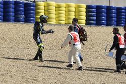 Track clearance after mass crash, Nicolo Bulega, Sky Racing Team VR46,  French Moto3 Race 2017