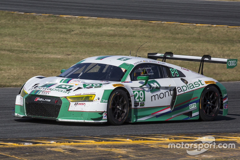 #29 Montaplast by Land-Motorsport Audi R8 LMS GT3: Connor de Phillippi, Christopher Mies