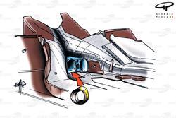 McLaren MP4-15 diffuser (exhaust)