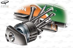 Force India VJM02 2009 front brake detail