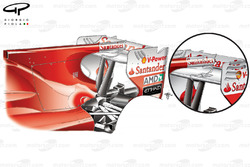 Ferrari F10 rear wing and F-Duct revisions (old specification inset)