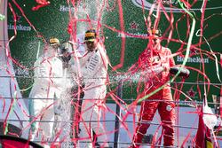 Podium: 1. Lewis Hamilton, Mercedes AMG F1; 2. Valtteri Bottas, Mercedes AMG F1; 3. Sebastian Vettel, Ferrari