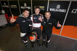 LMP3 polesitters Alexander Talkanitsa Sr., Alexander Talkanitsa Jr., Mikkel Jensen, AT Racing