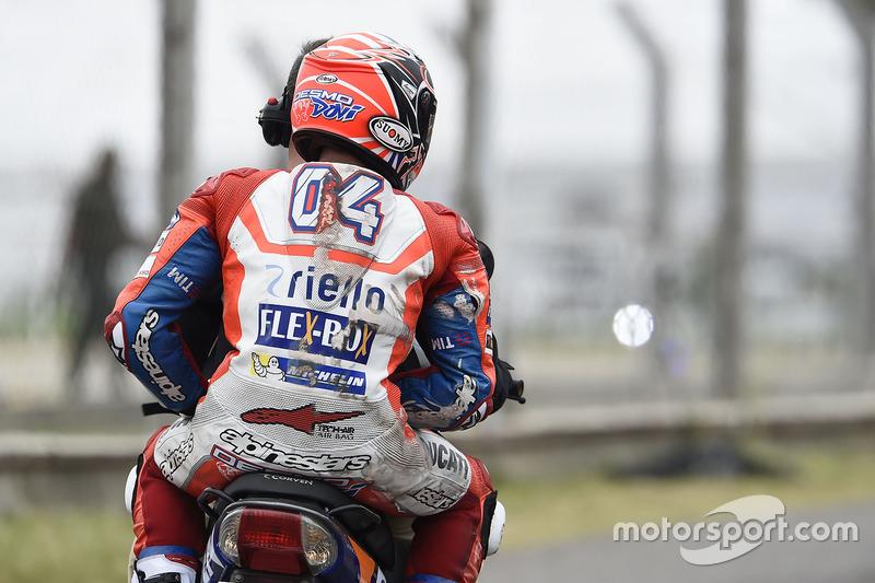 Andrea Dovizioso, Ducati Team, nach Sturz