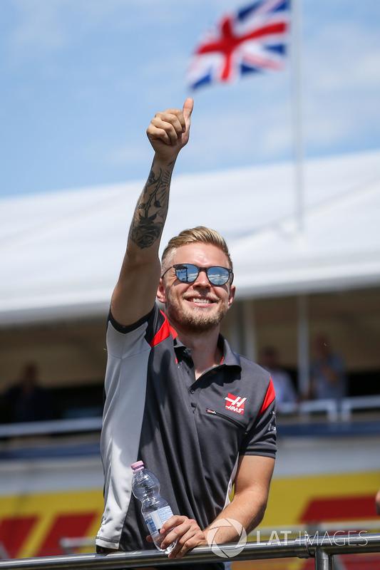 Kevin Magnussen, Haas F1 en el desfile de pilotos