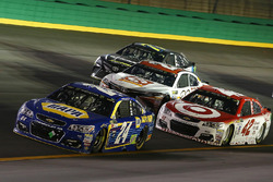 Chase Elliott, Hendrick Motorsports Chevrolet, Kyle Larson, Chip Ganassi Racing Chevrolet, Matt Kenseth, Joe Gibbs Racing Toyota, Erik Jones, Furniture Row Racing Toyota
