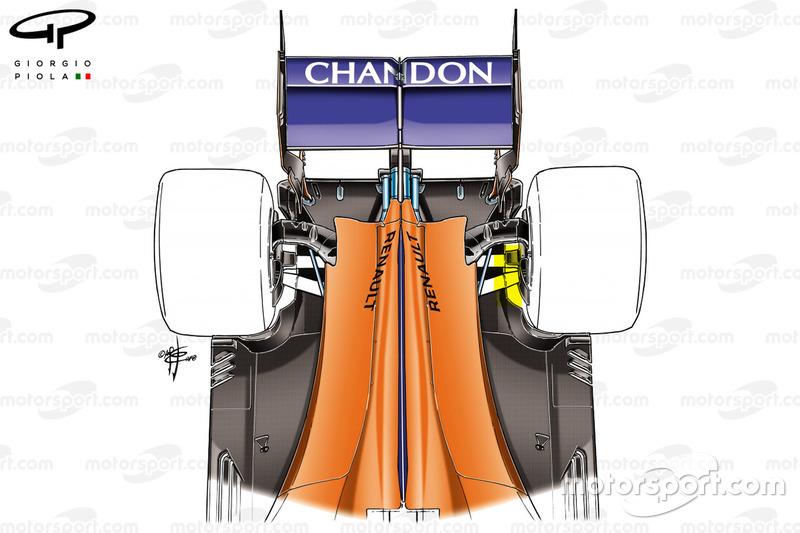 Задня частина McLaren MCL33