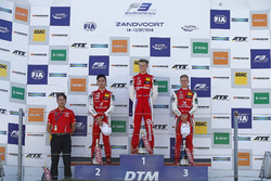 Podium: Race winner Ralf Aron, PREMA Theodore Racing Dallara F317 - Mercedes-Benz, second place Guanyu Zhou, PREMA Theodore Racing Dallara F317 - Mercedes-Benz, third place Mick Schumacher, PREMA Theodore Racing Dallara F317 - Mercedes-Benz