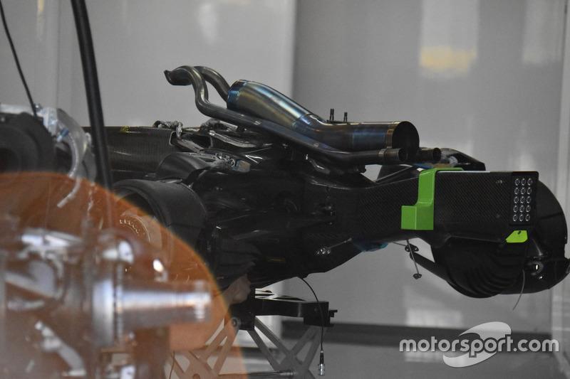 McLaren MCL33 detail for wastegate exhast