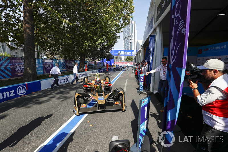Jean-Eric Vergne, Techeetah finishes 1st, pulls into Parc ferme