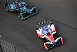 Felix Rosenqvist, Mahindra Racing. Mitch Evans, Jaguar Racing