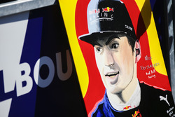 A fan's painting of Max Verstappen, Red Bull Racing