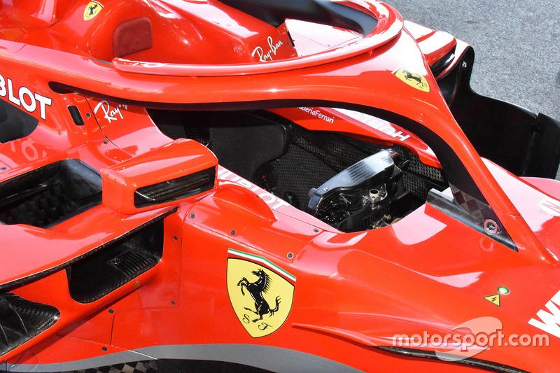 Ferrari SF71H kokpit detay