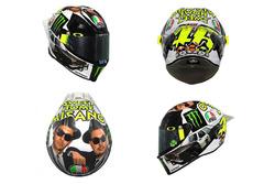 Valentino Rossi, Yamaha Factory Racing casco de los Blues Brothers