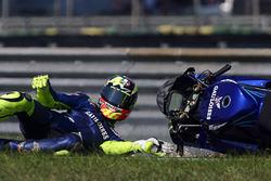La caduta di Valentino Rossi