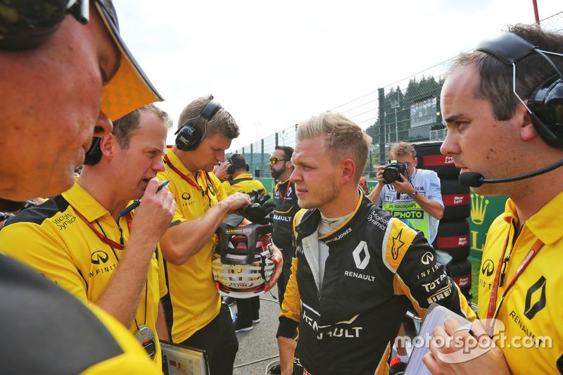 Kevin Magnussen, Renault Sport F1 Team in griglia