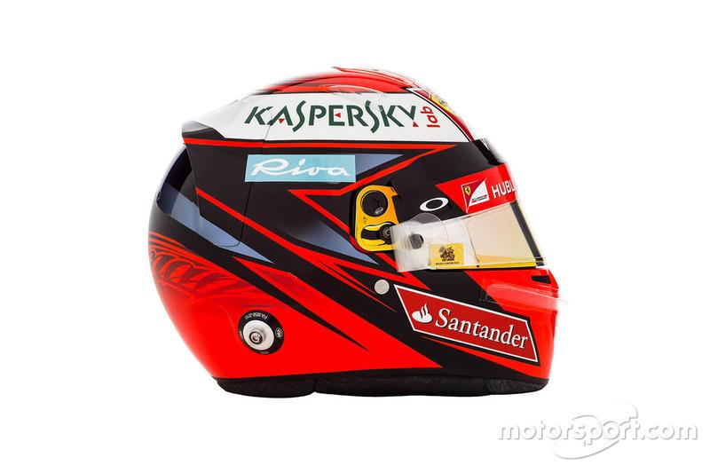 Kimi Raikkonen, Ferrari helmet